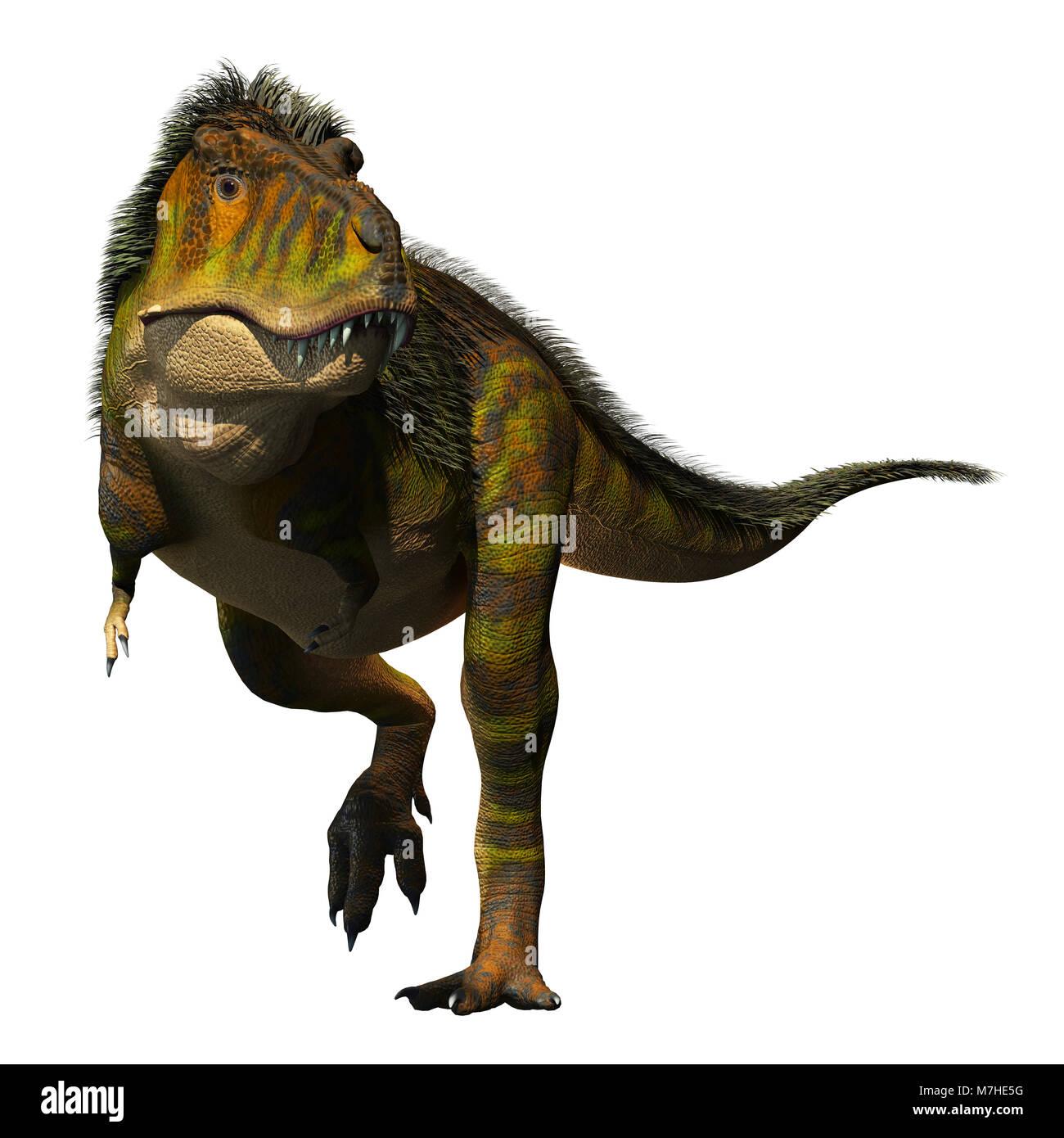 Tyrannosaurus Rex on the prowl. - Stock Image