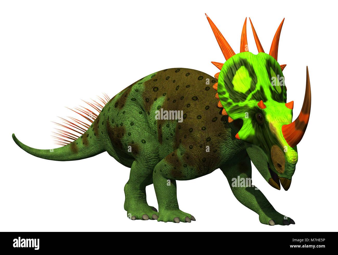 Rubeosaurus dinosaur on white background. - Stock Image