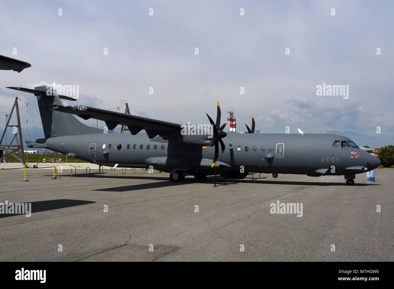 P-72A maritime patrol aircraft of the Italian Air Force. - Stock Image