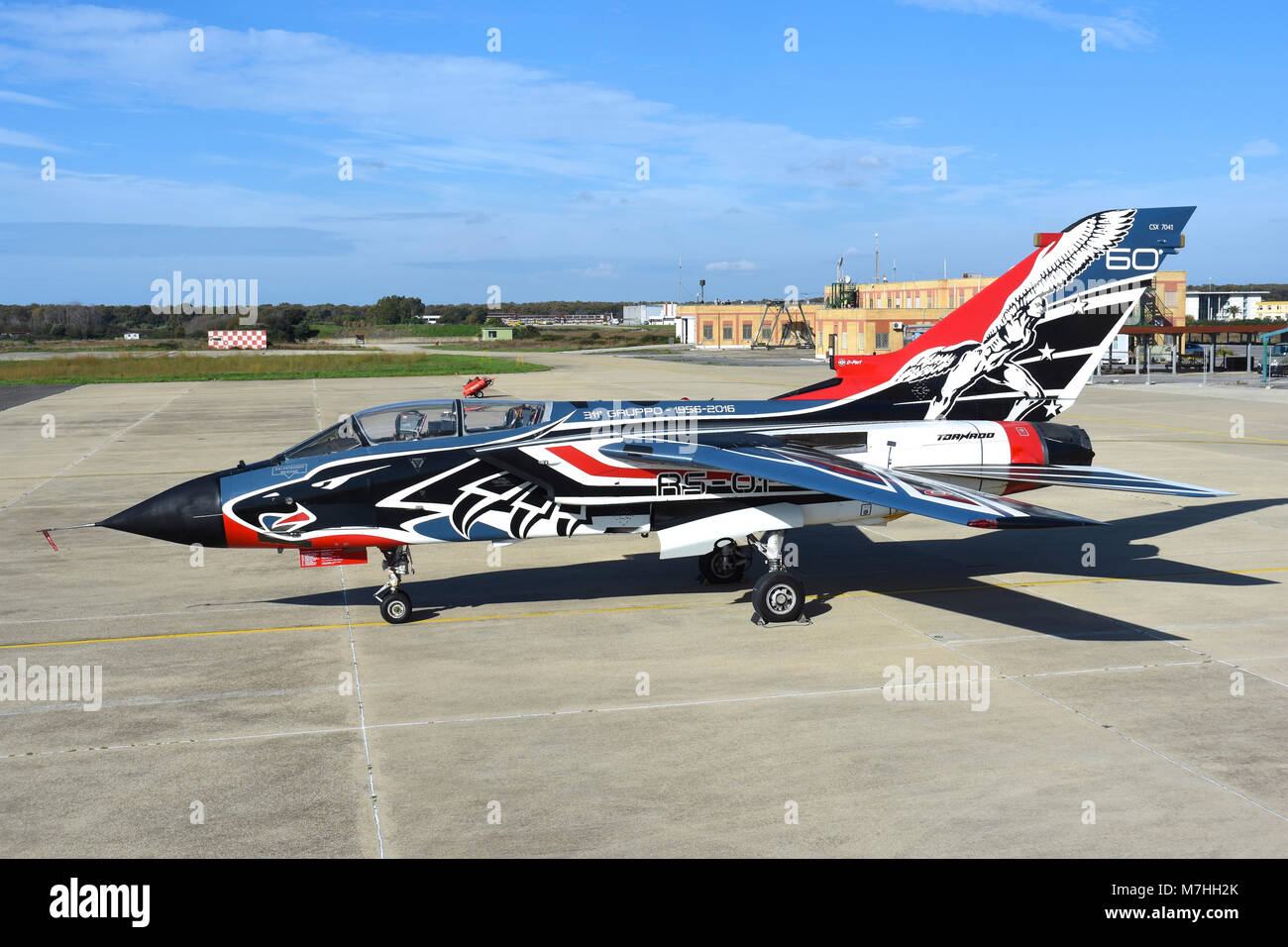 Italian Air Force Tornado special colour for the 60th Anniversary of Flying Test Wing. Stock Photo