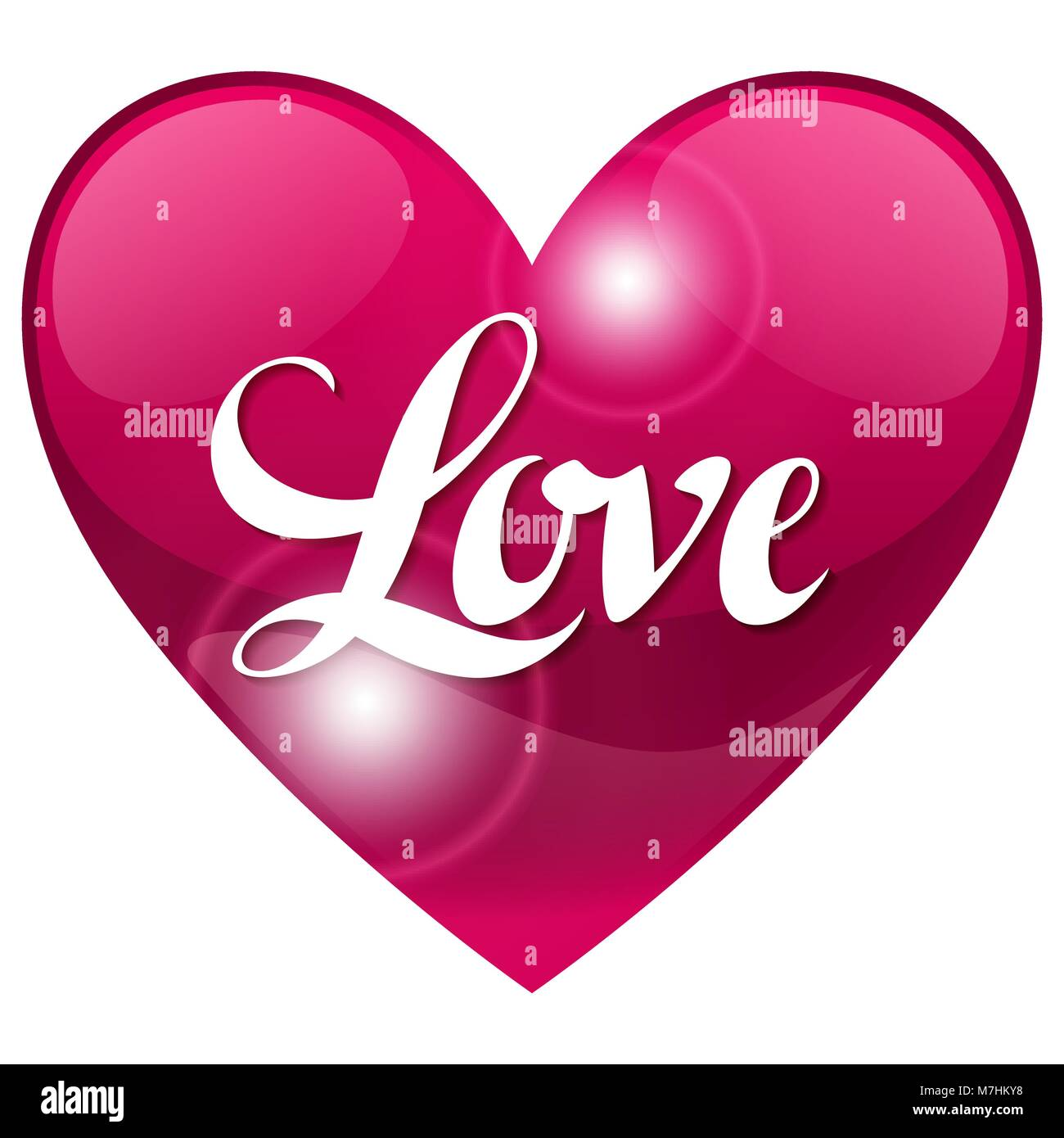 Valentine day background with word love and heart. Design greeting ...