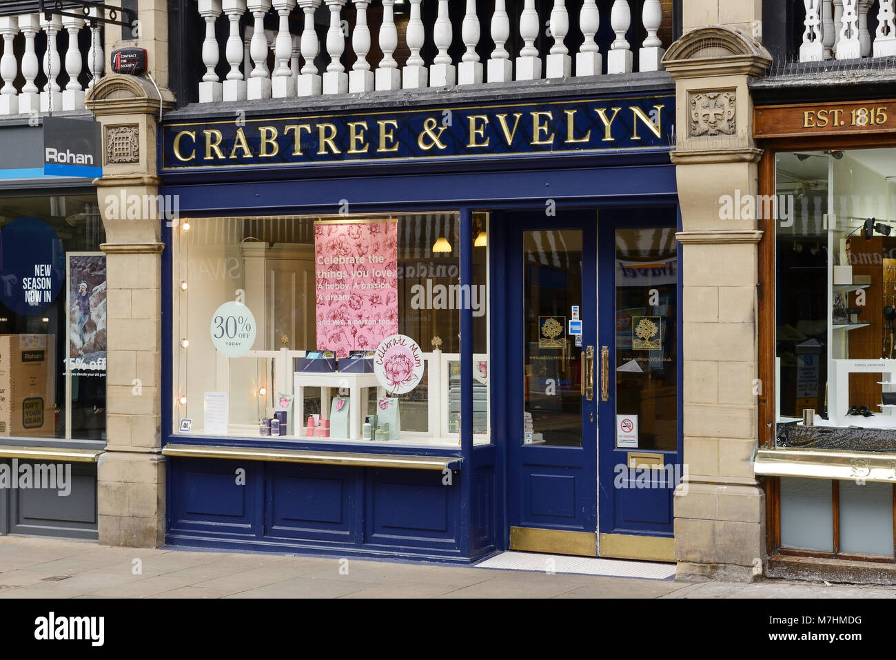 Crabtree & Evelyn shop front in Chester city centre UK - Stock Image