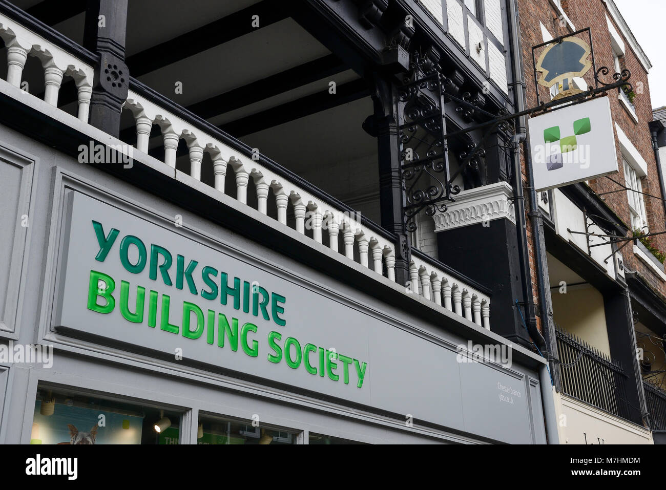 Yorkshire Building Society signage in Chester city centre UK - Stock Image