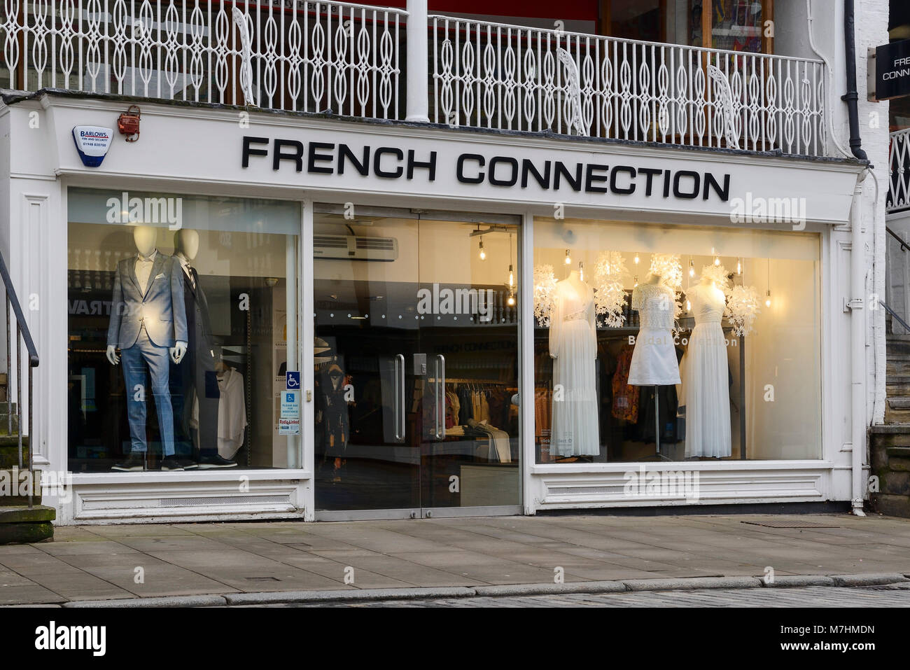 French Connection shop front in Chester city centre UK - Stock Image