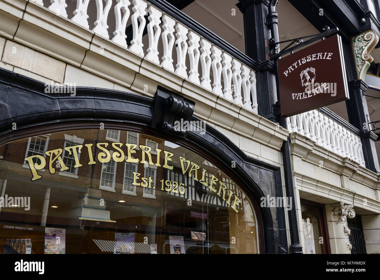 Patisserie Valerie signage in Chester city centre UK - Stock Image