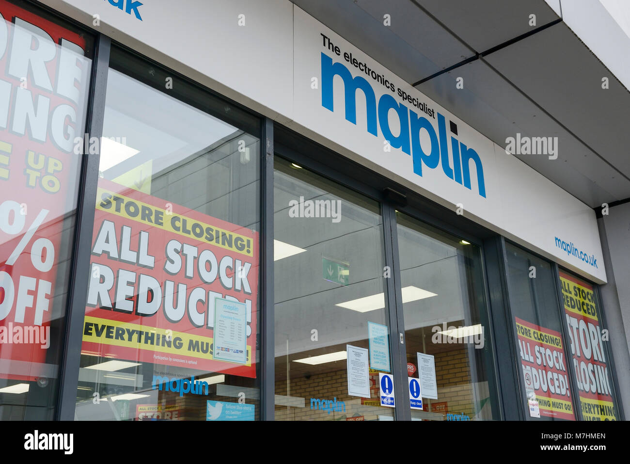 Maplin store on a retail park in Chester UK - Stock Image