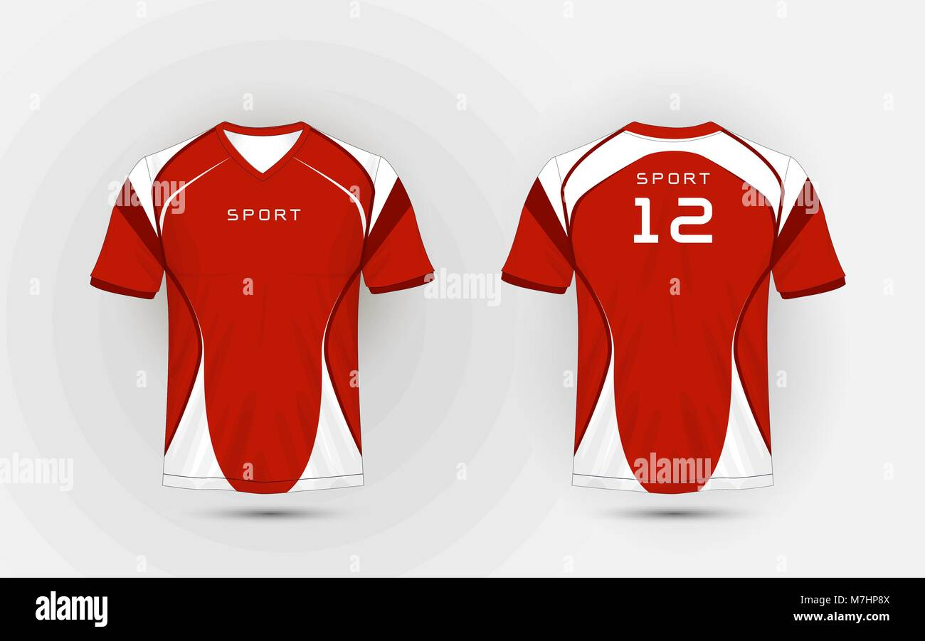 dd3aaa63f8d80f Red and white pattern sport football kits