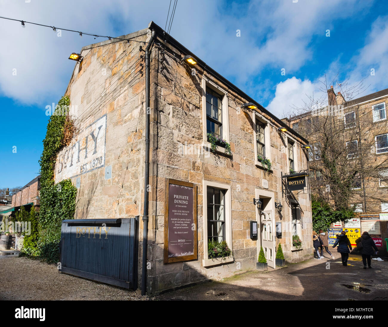 The Bothy restaurant on Ruthven Lane mews off Byres Road in Glasgow West End, Scotland, United Kingdom - Stock Image