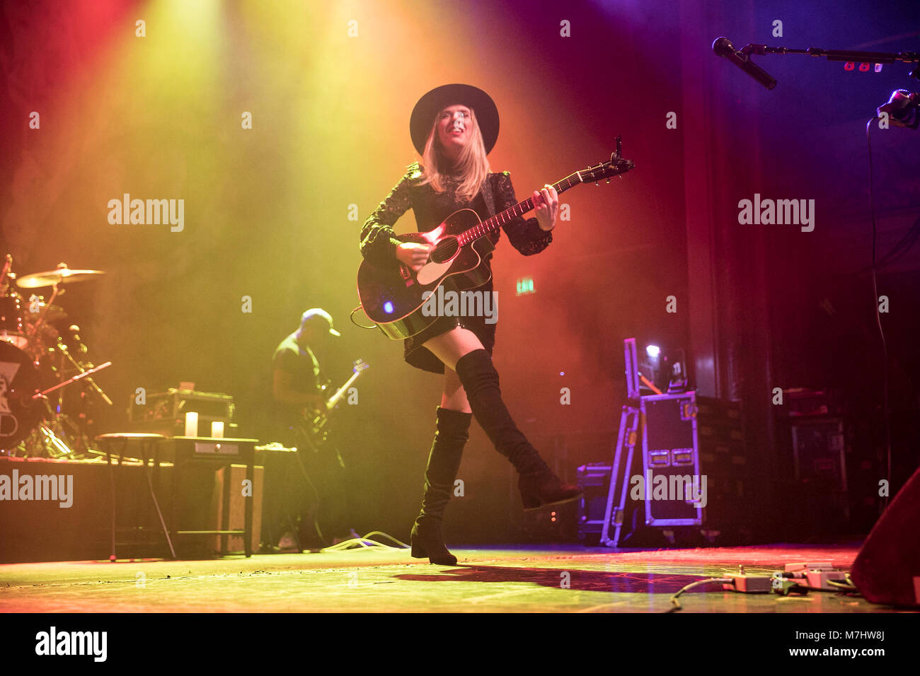 San Francisco, USA. 07th Mar, 2018. ZZ Ward performs on March 7, 2018 at the Regency Ballroom in San Francisco, - Stock Image
