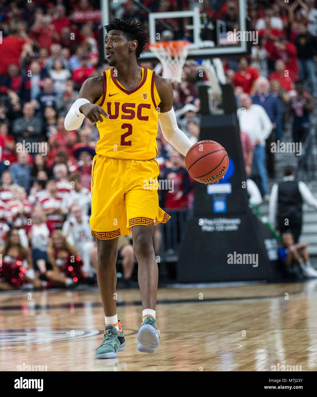Mar 10 2018 Las Vegas NV USA USC Guard Jonah Mathews 2 Scored 11 Points Set Up Trojans Offense During The NCAA Pac 12 Mens Basketball Championship