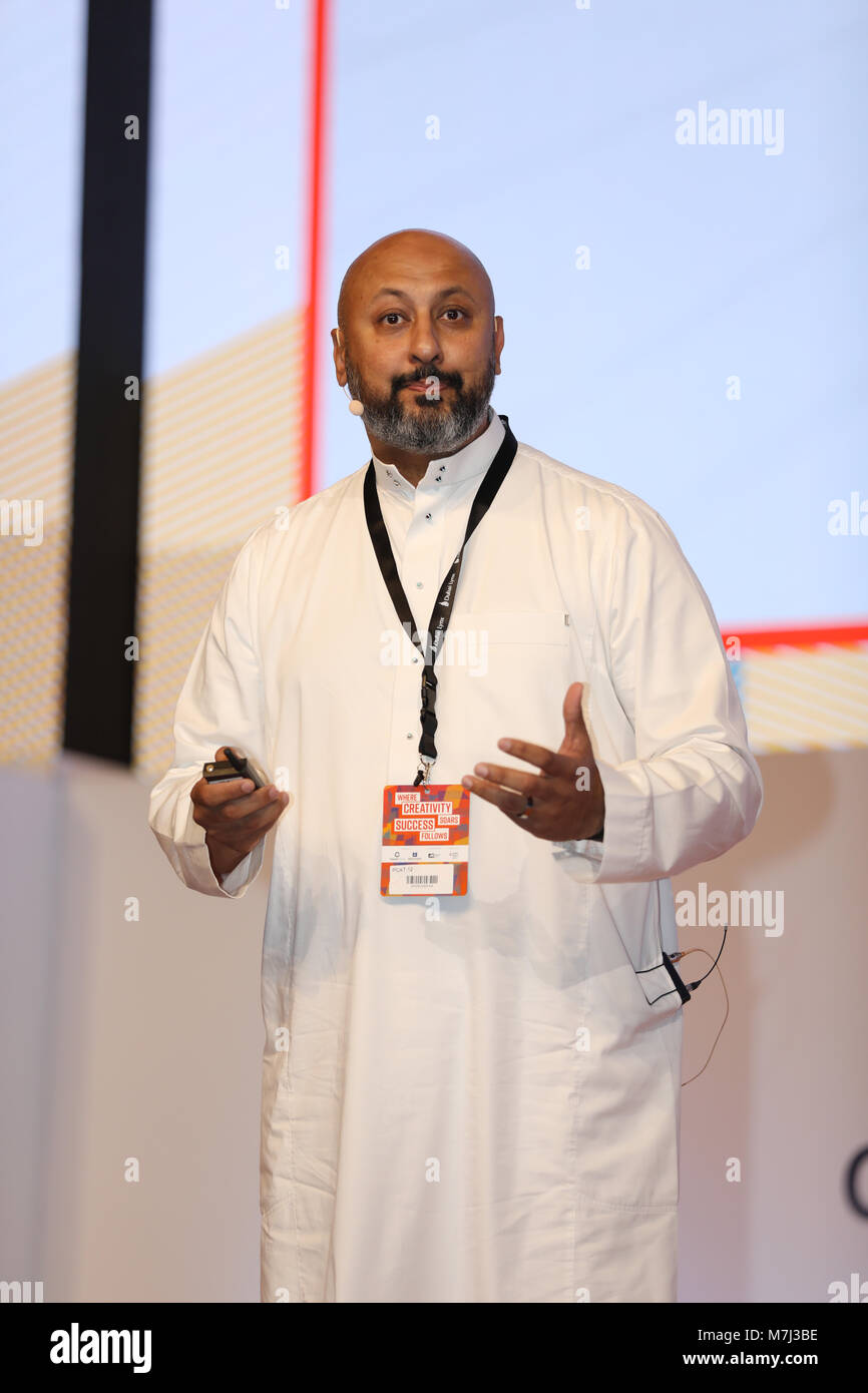 Dubai, United Arab Emirates, 11. March 2018, Ageel Angawi, Marketing Vice President - Home Care Unilever, speaker - Stock Image