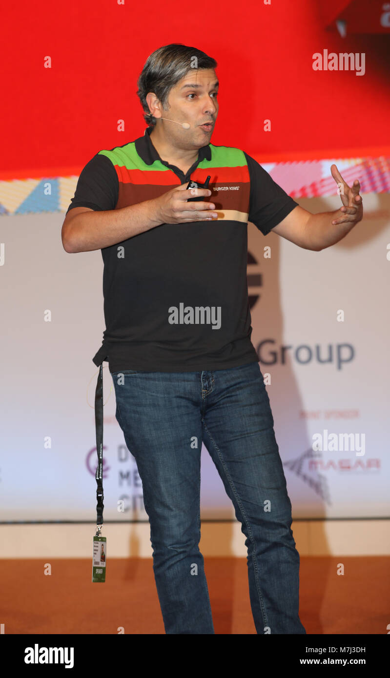 Dubai, United Arab Emirates, 11. March 2018, Fernando Machado, Global Chief Marketing Officer, Burger King, speaker - Stock Image
