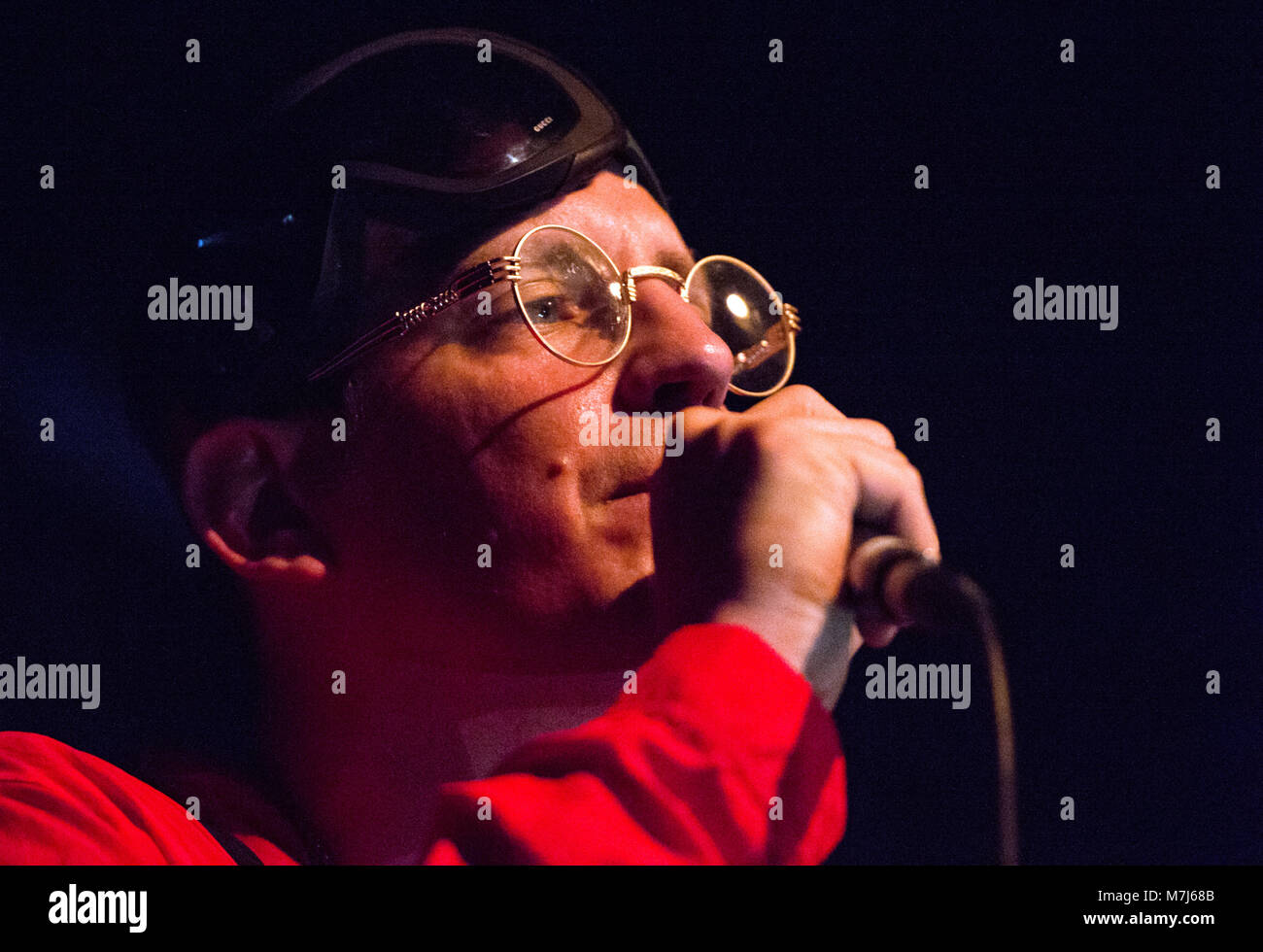 10 March 2018, Germany, Berlin: Austrian rap-singer Money Boy performs on stage during a concert of the 'Glo - Stock Image