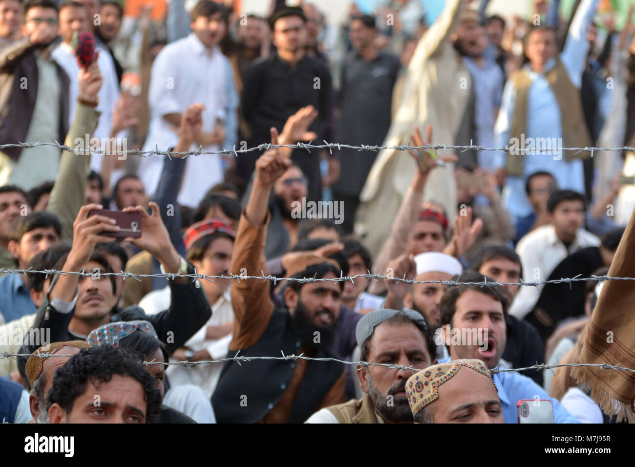 Quetta, Pakistan  11th March, 2018  people has slogan during