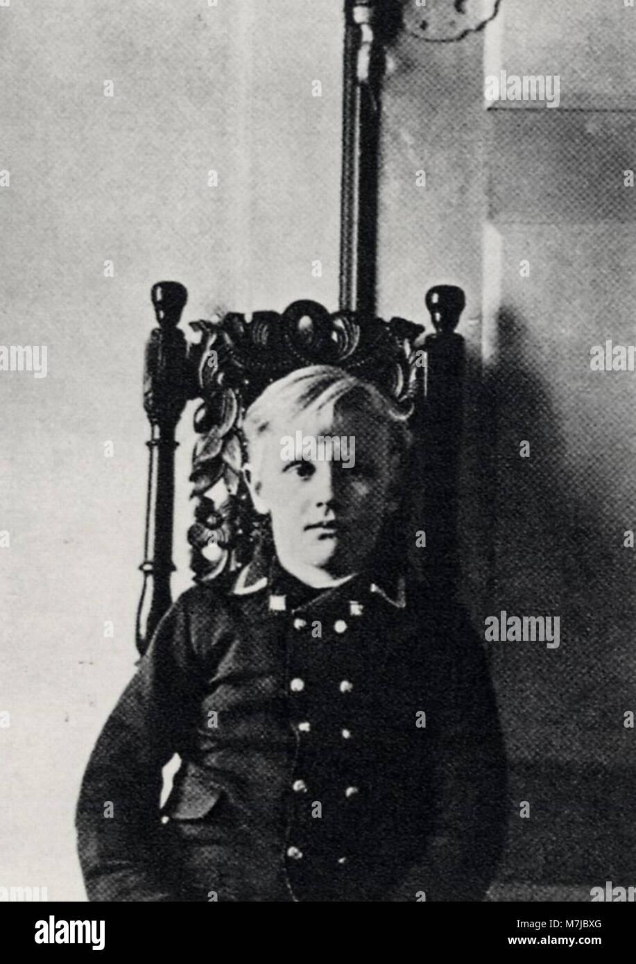 Strindberg, August - Hans, der Sohn Strindbergs, in Brevik (Zeno Fotografie) Stock Photo