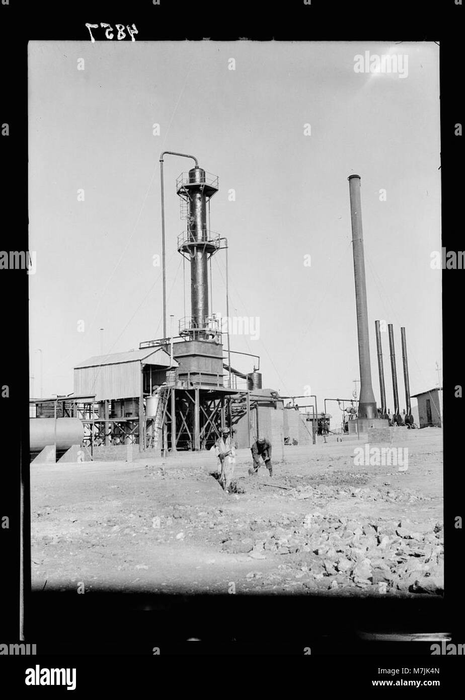 Iraq  Oil wells and camp of the Iraq Petroleum Company  (5 miles S