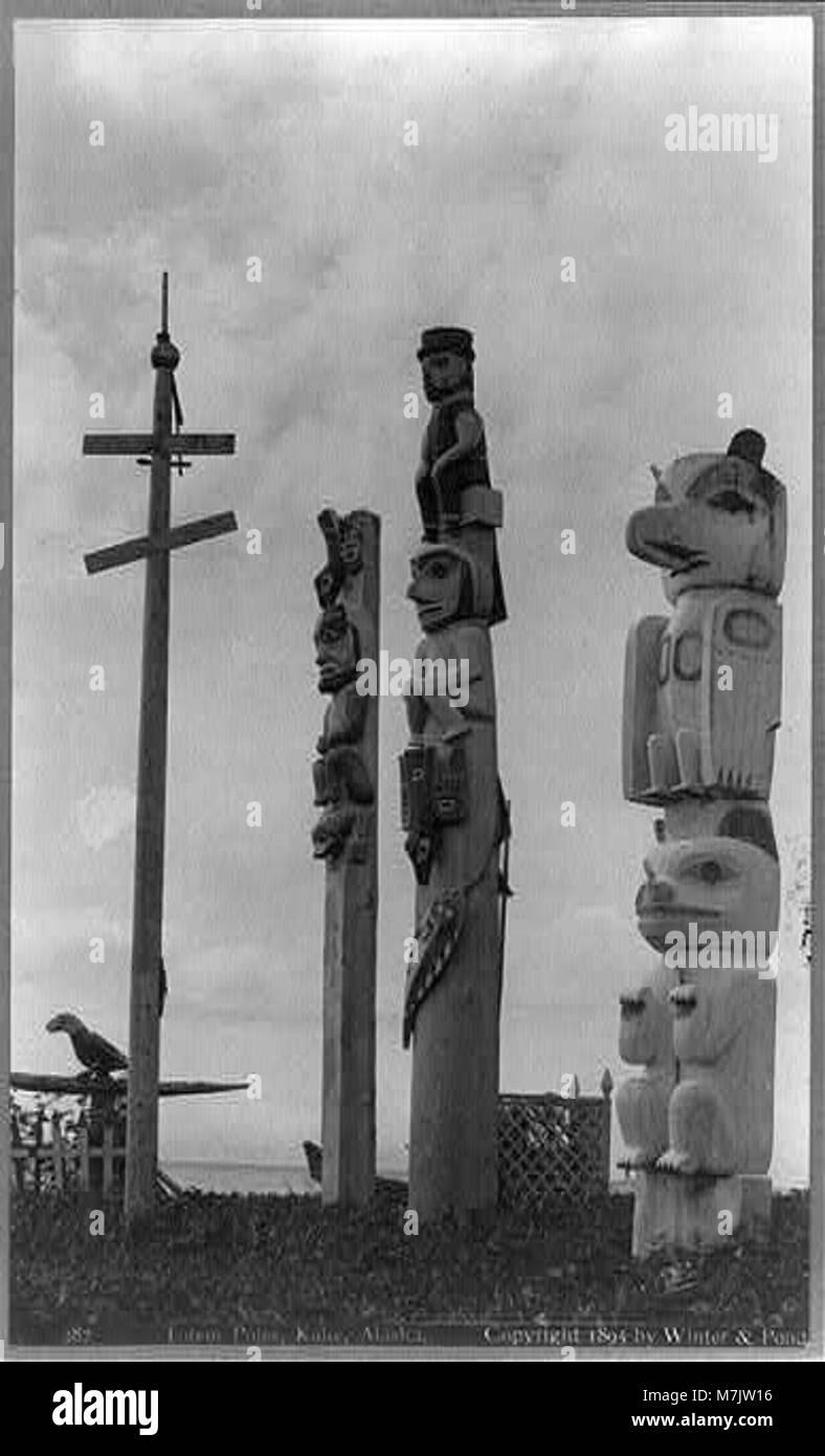 Totem poles, Kake, Alaska LCCN2002714999 - Stock Image