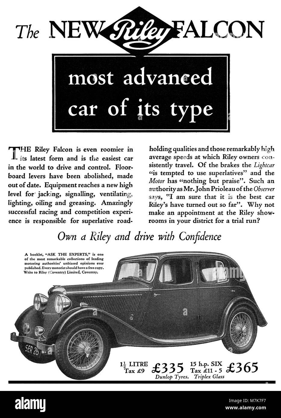 Vintage Riley Motor Car Stock Photos & Vintage Riley Motor Car Stock ...