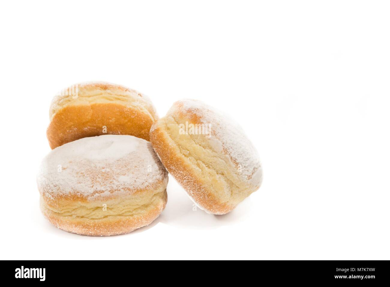 Carnival Donut with carnival decoration on a slate - Stock Image