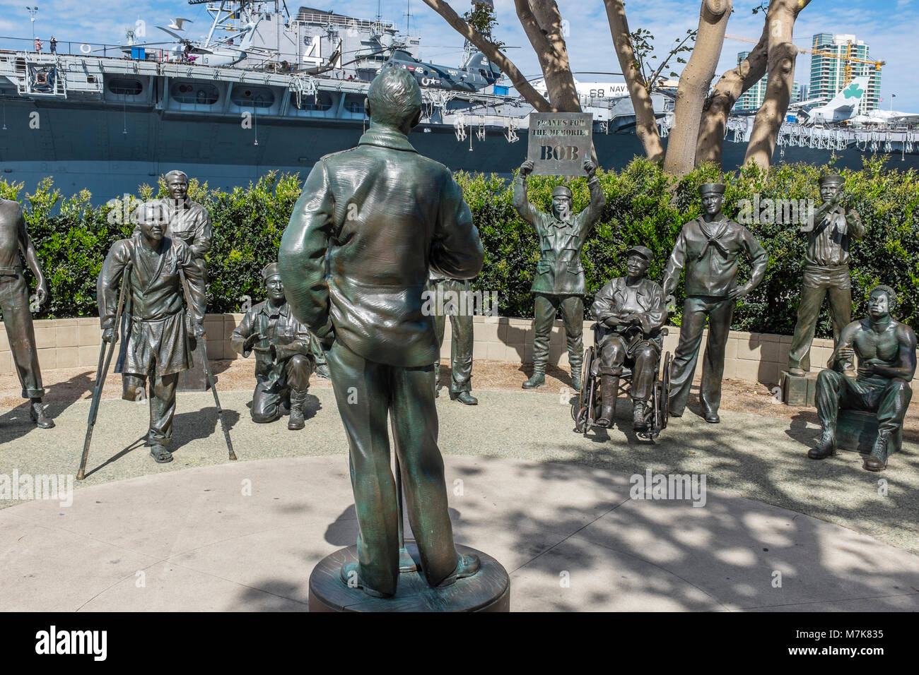 SAN DIEGO, CALIFORNIA, USA - National Statue to Bob Hope and the Military located on Harbor Drive in Downtown San - Stock Image