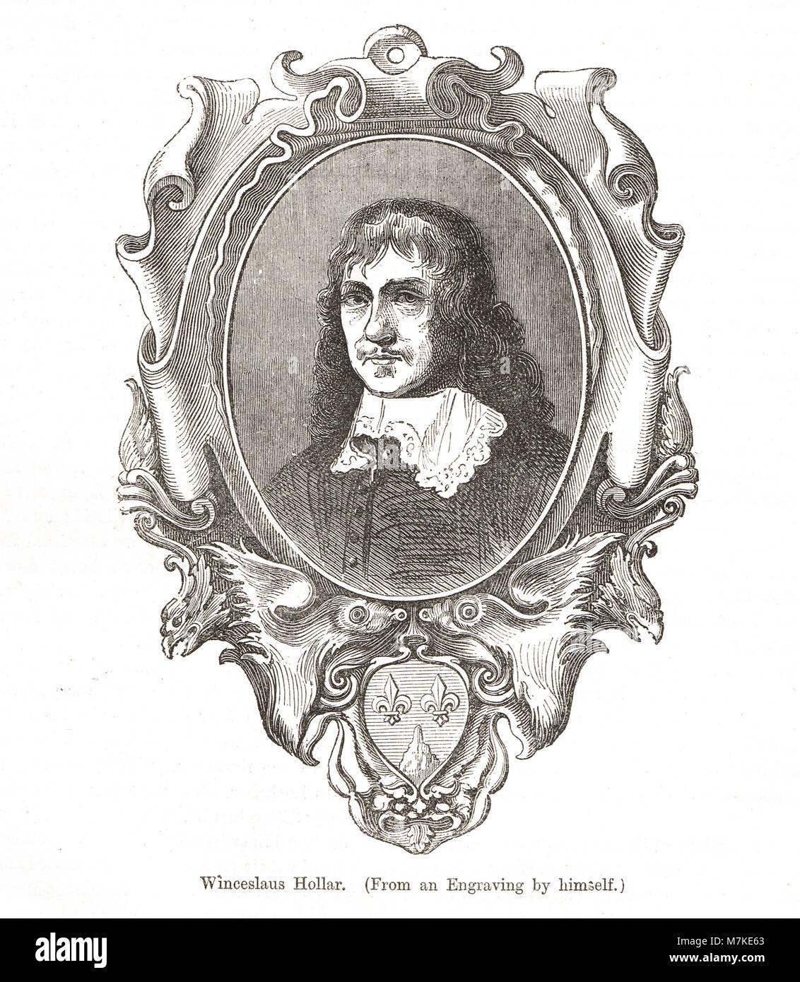 Wenceslaus Hollar, 1607–1677, Bohemian etcher - Stock Image