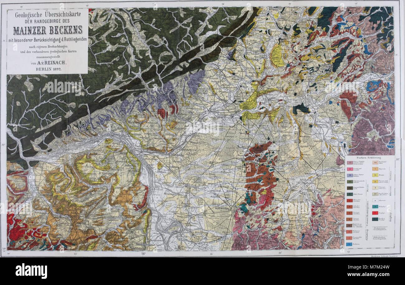 Abhandlungen zur geologischen Specialkarte von Preussen und den Thüringischen Staaten (1892) (16146615524) Stock Photo