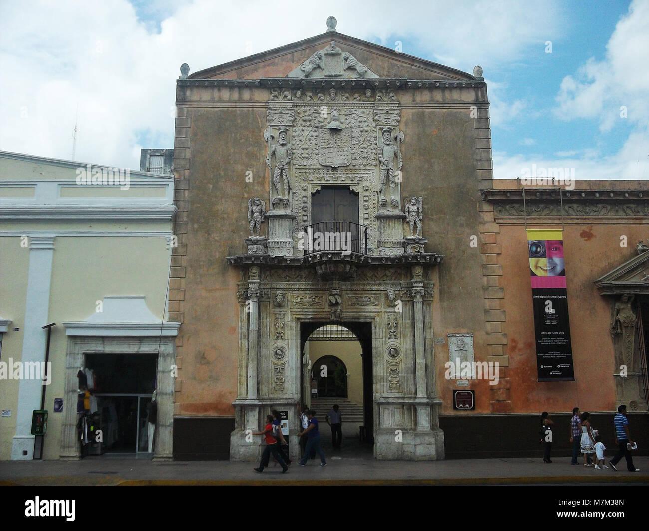 Casa de los Montejo, Mérida, Yucatán (01) Stock Photo