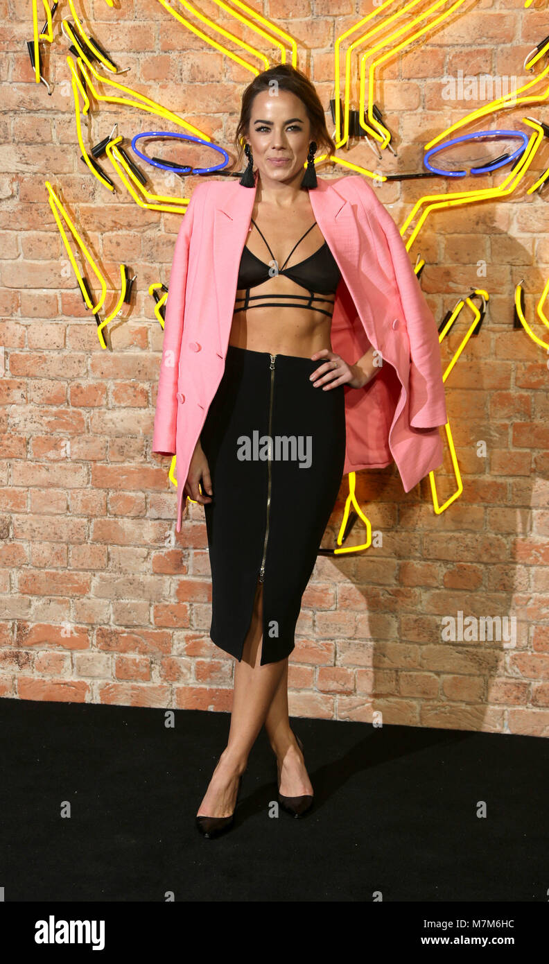 'Black Panther' European Premiere - Arrivals  Featuring: Emma Conybeare Where: London, United Kingdom When: - Stock Image