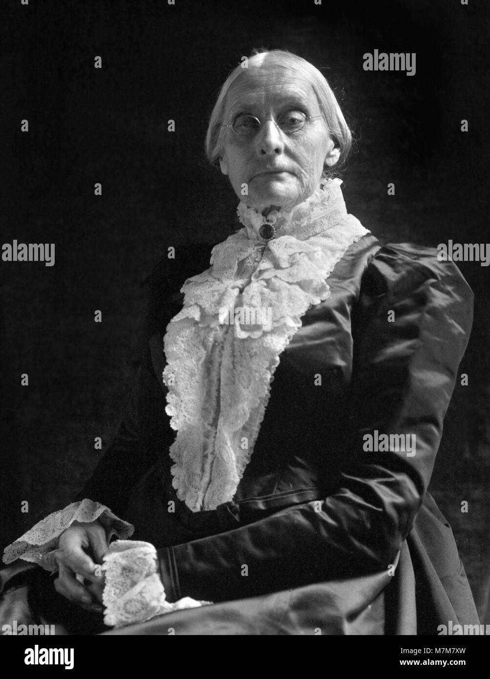 Susan B Anthony. Portrait of Susan Brownell Anthony (1820-1906), American suffragists and social reformer, by Frances - Stock Image