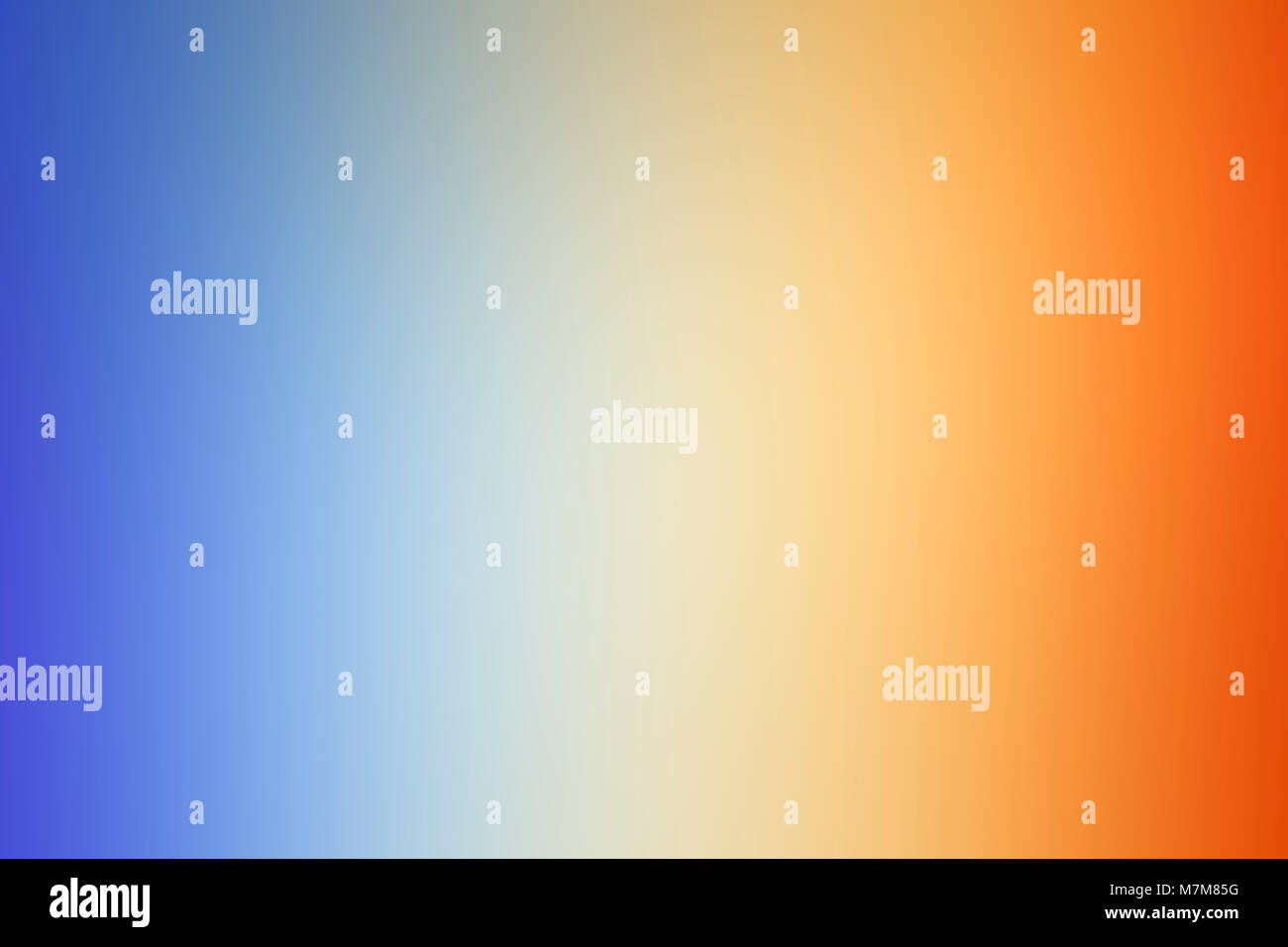 Abstract composition from a colourful spectrum cast on a white wall by sunlight refracted through a glass mirror - Stock Image