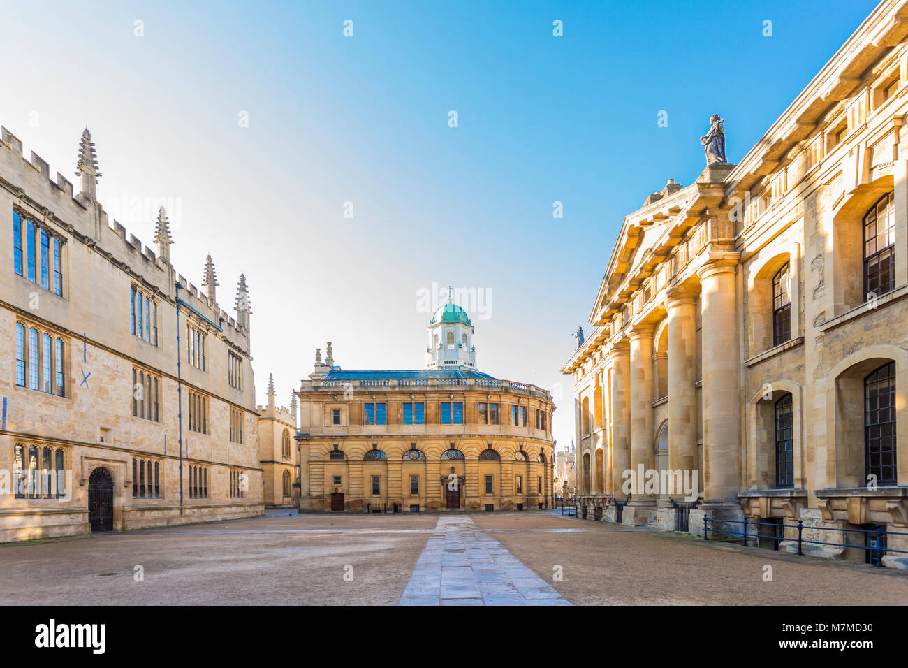 The Sheldonian Theatre, located in Oxford, England, was built from 1664 to 1669 after a design by Christopher Wren - Stock Image