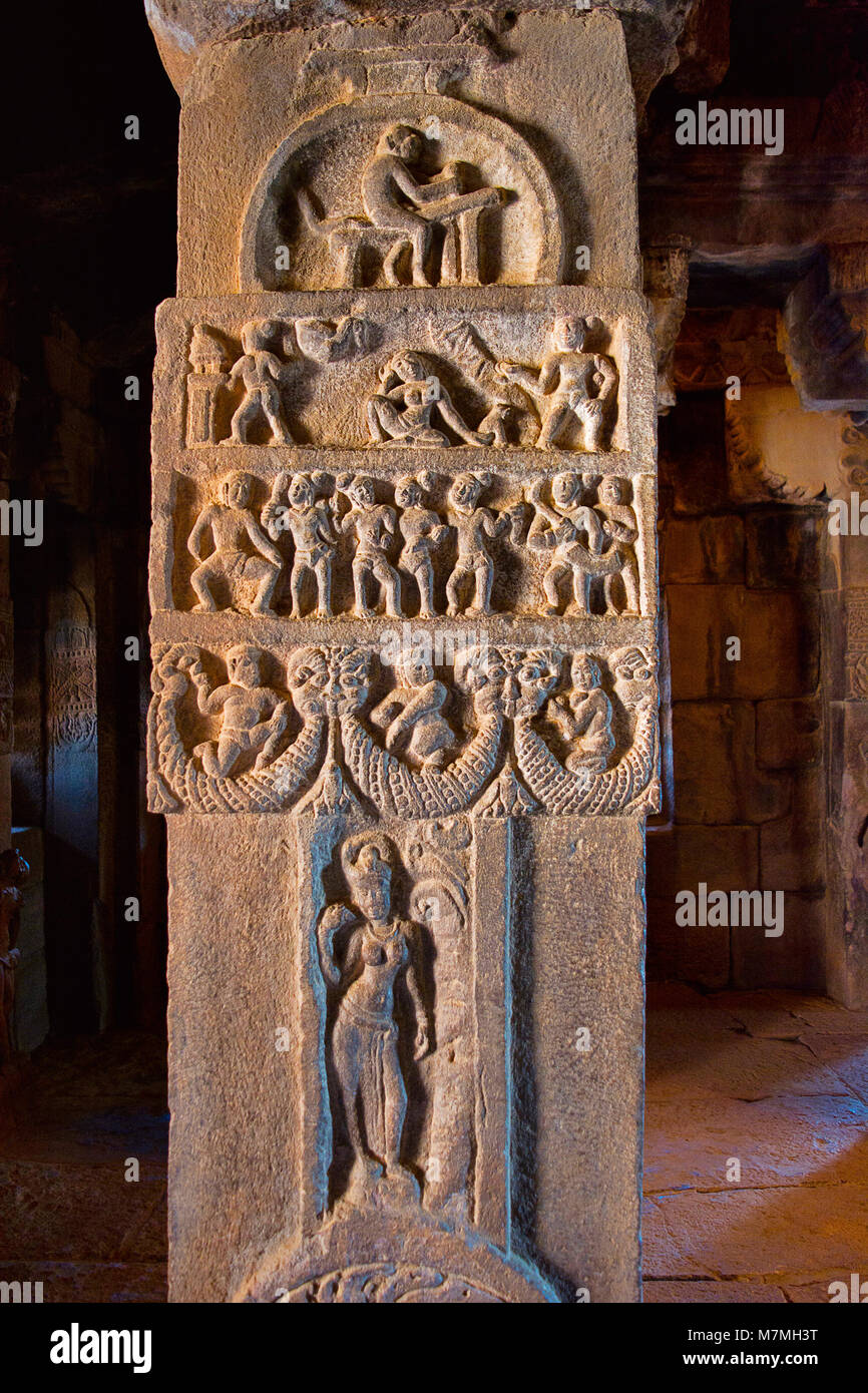 Carvings historical temples india stock photos