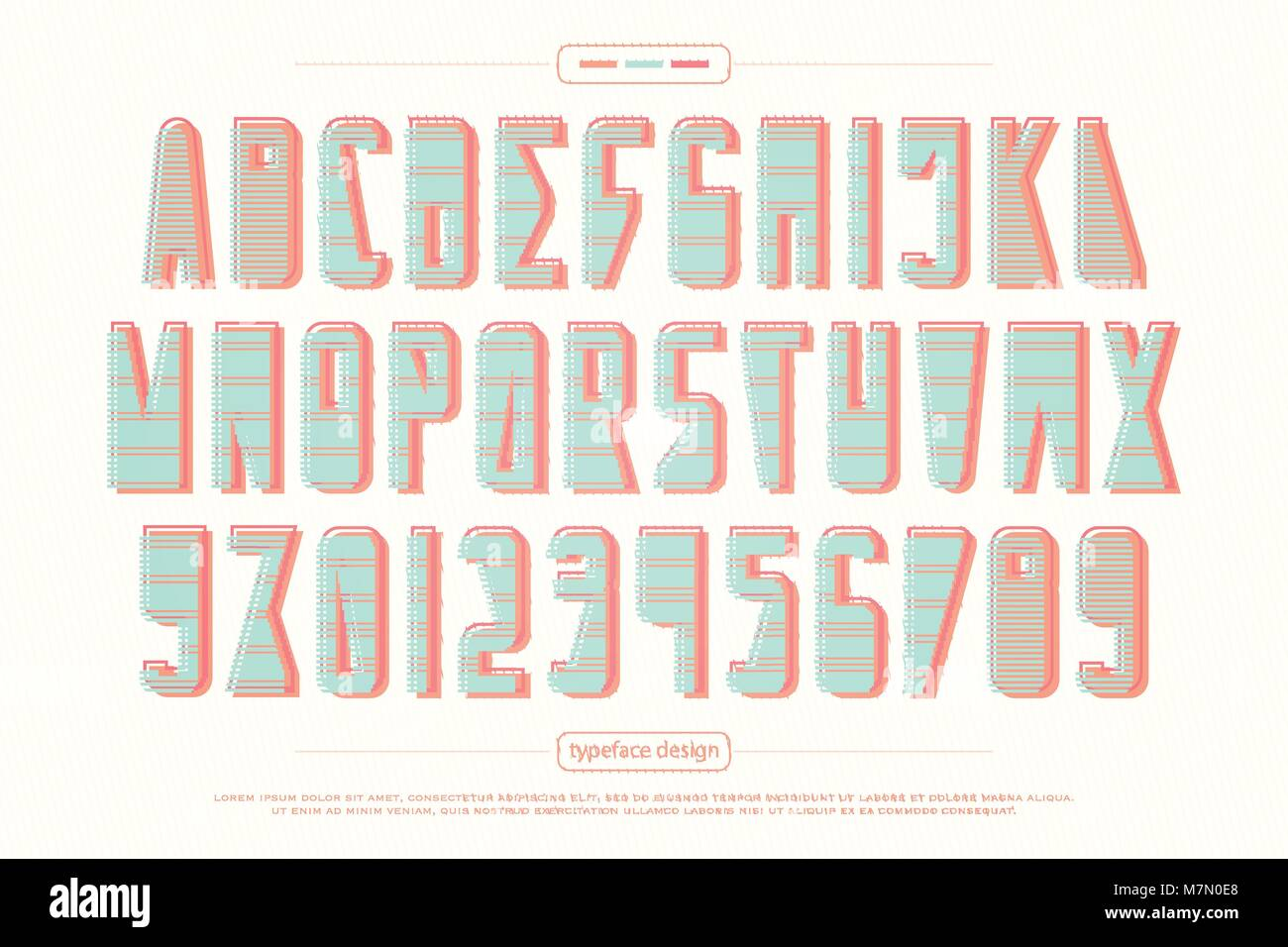 Urban Style Alphabet Letters And Numbers Vector Trendy Font Type Design Retro Lettering Symbols Stylish Geometric Typesetting Template