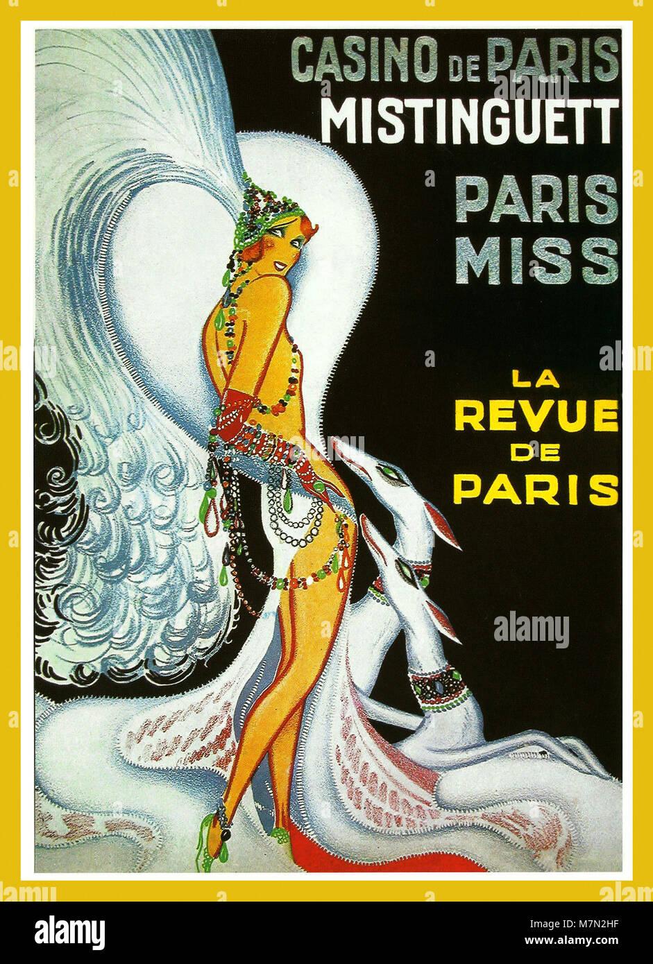 Casino De Paris France Line Renaud Vintage Travel Advertisement Poster Print
