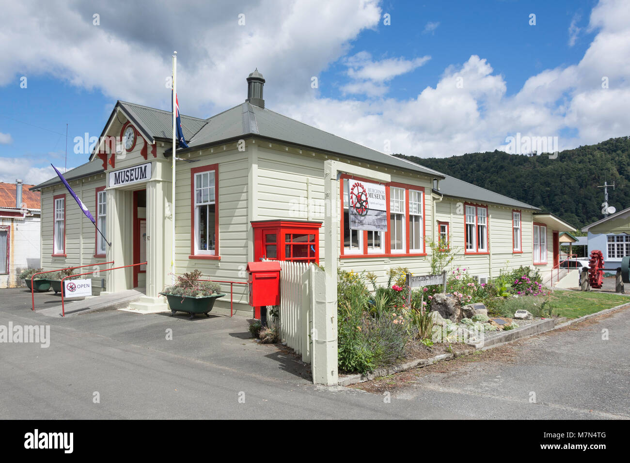 Murchison Historical & Museum Society, Fairfax Street, Murchison, Tasman Region, New Zealand - Stock Image