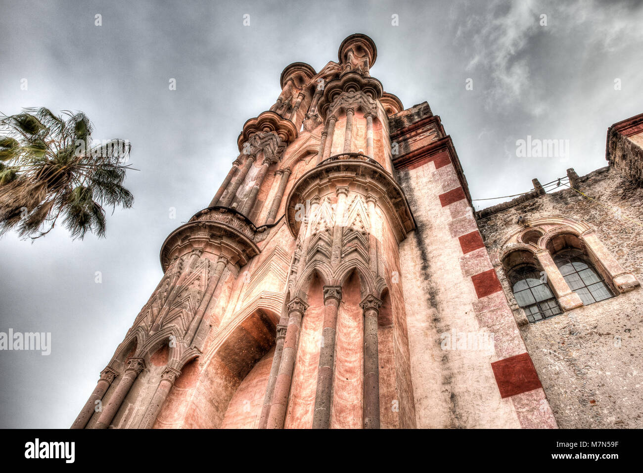 Church of San Miguel de Allende Stock Photo