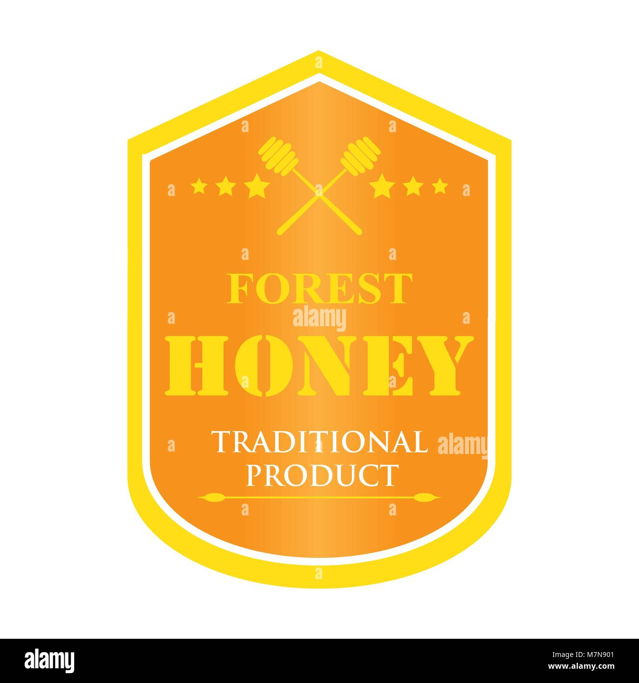 set of logos for honey products - Stock Vector