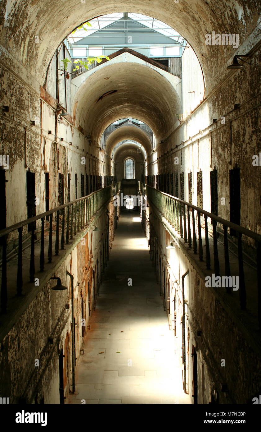 A old historic prison cellblock - Stock Image