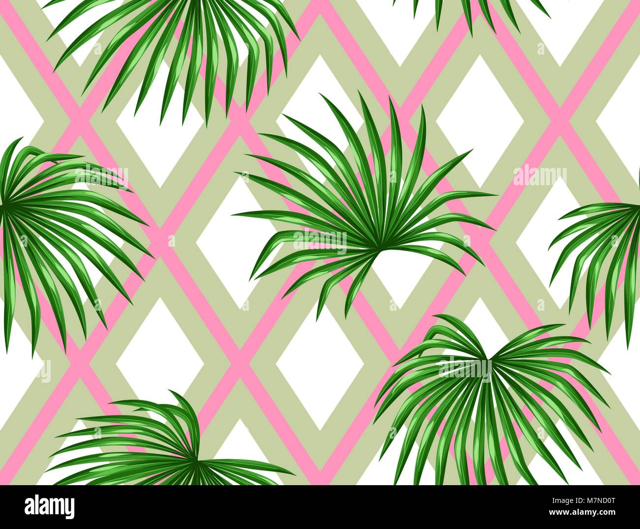 Seamless Pattern With Palms Leaves Decorative Image Tropical Leaf Of Stock Vector Image Art Alamy Paper tropical leaves decorations are stunningly in demand. alamy