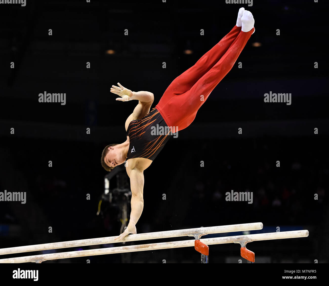 Echo Arena, Liverpool, UK. 11th Mar, 2018. 2018 Gymnastics British Championships at Echo Arena on Sunday, 11 March Stock Photo
