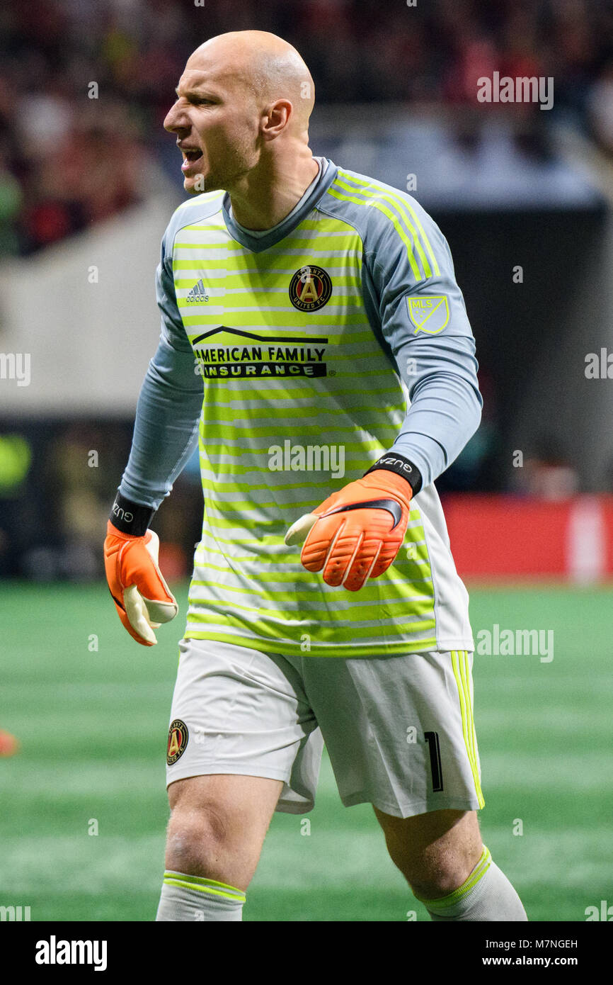 timeless design 4ec0a 87e75 Atlanta, USA. 11th Mar, 2018. Atlanta United goalkeeper Brad ...