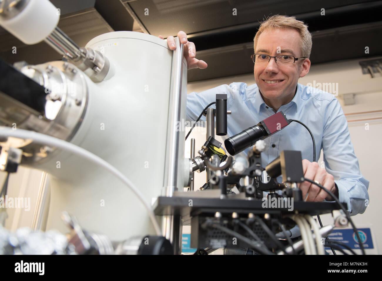 FILED - 21 December 2017, Germany, Goettingen: Claus Ropers, physics professor at the University of Goettingen, - Stock Image