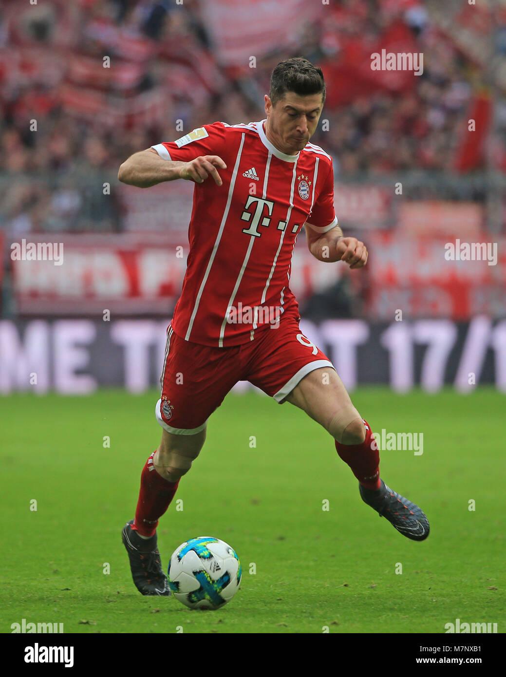 20180310, Football, 1. Bundesliga, 26.Matchday, at Allianz Arena Munich, FC Bayern vs Hamburg SV, Fussball, Sport, - Stock Image