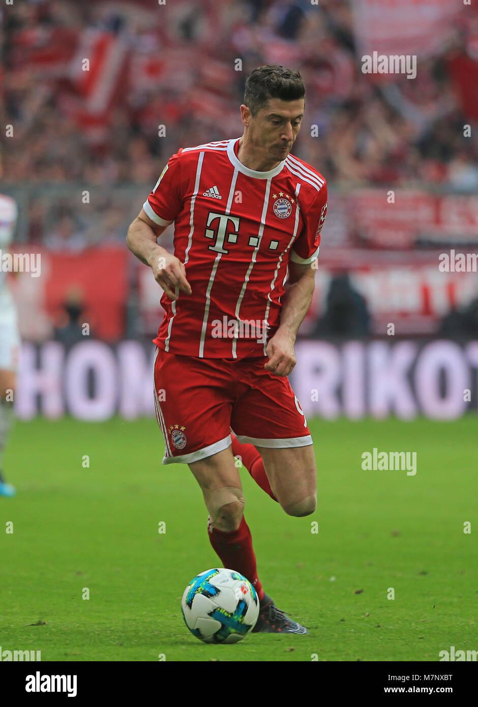 20180310, Football, 1. Bundesliga, 26.Matchday, at Allianz Arena Munich, FC Bayern vs Hamburg SV, Fussball, Sport, Stock Photo
