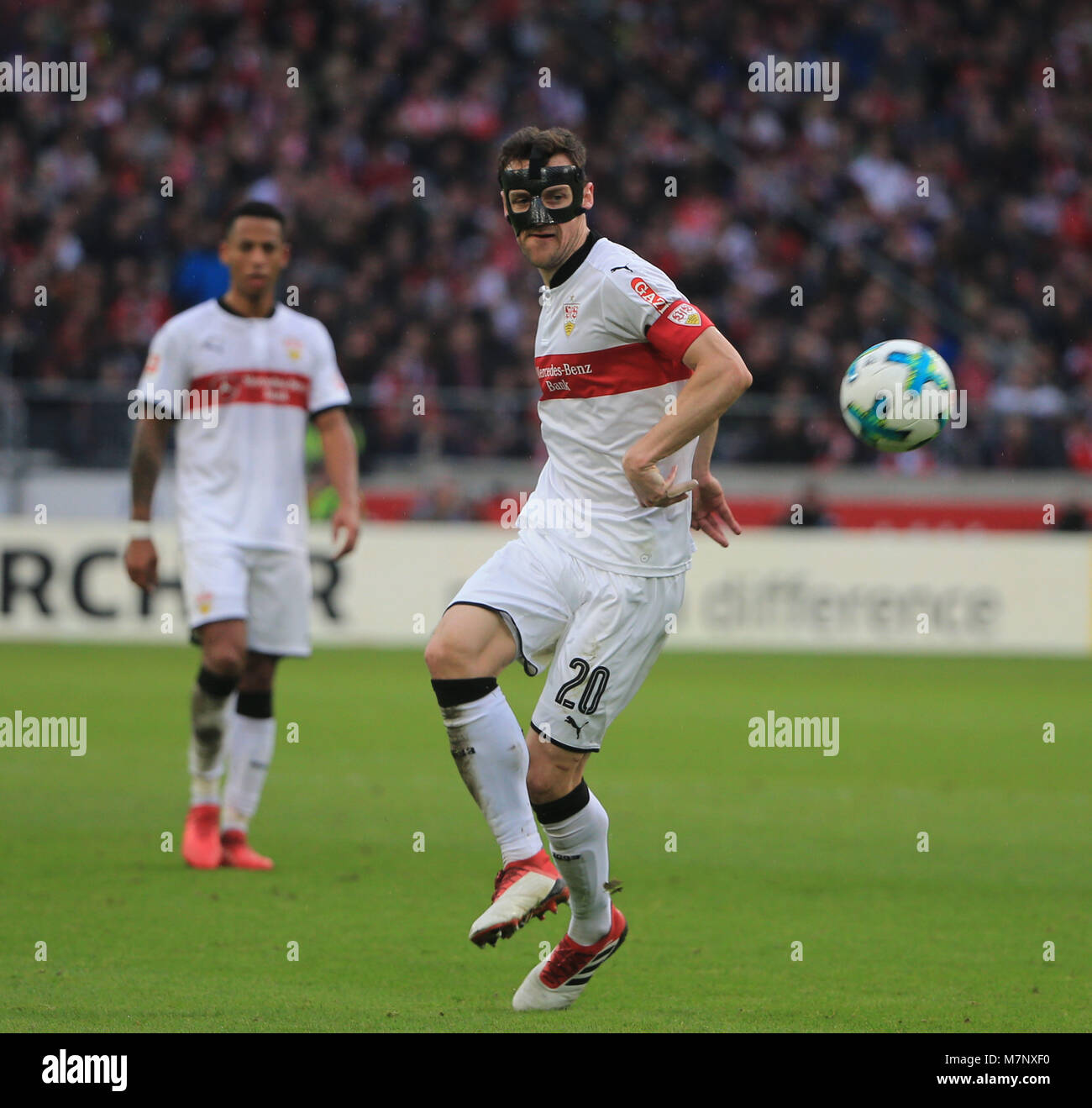 20180311, Football, 1. Bundesliga, 26.Matchday, at Mercedes Benz Arena Stuttgart, VfB Stuttgart vs RB Leipzig, Fussball, - Stock Image