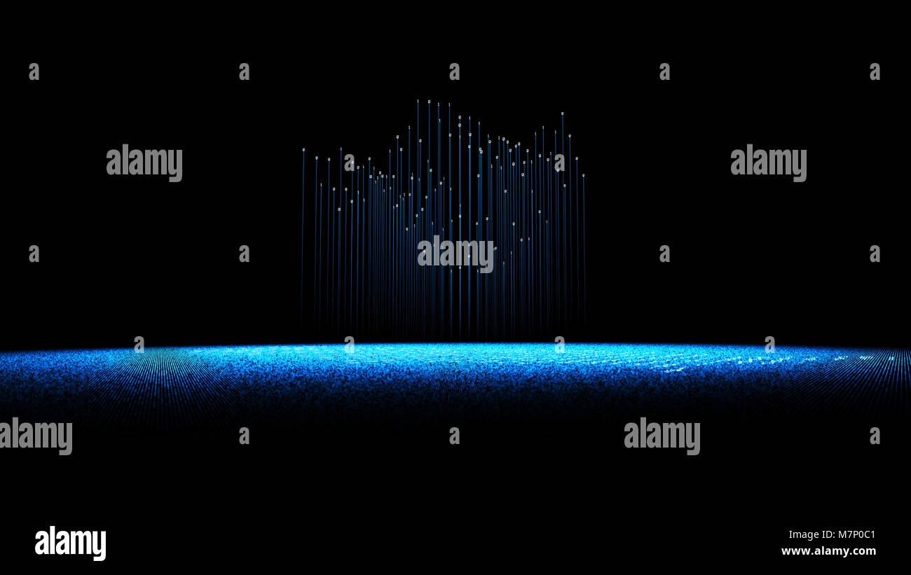 Internet technology communication, binary code programming, network connection Stock Photo