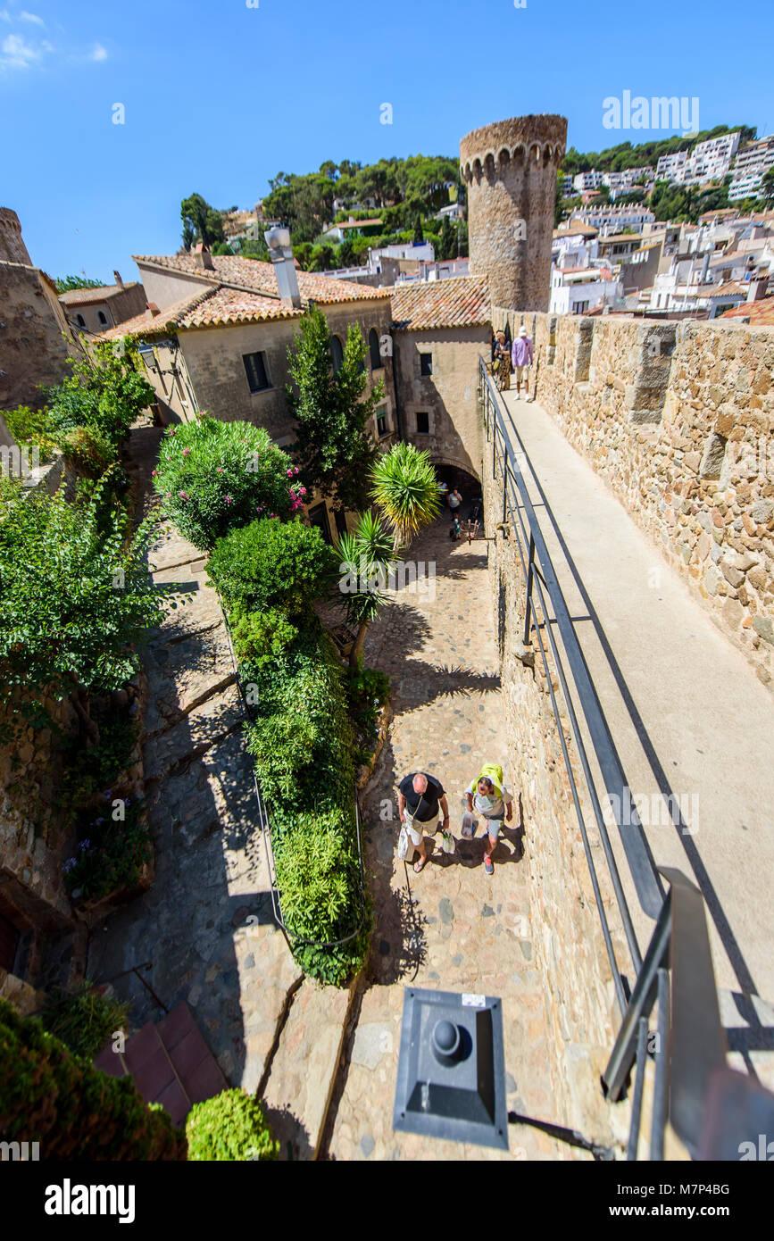 Villa Vella, Tossa de Mar, Costa Brava, Catalonia, Spain - Stock Image