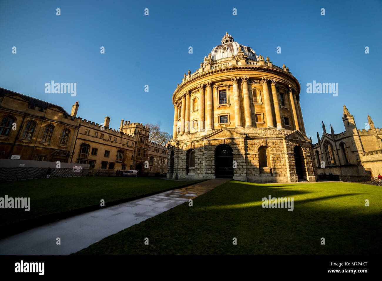 Radcliffe camera is a building of Oxford University, England, designed by James Gibbs in neo-classical style and - Stock Image