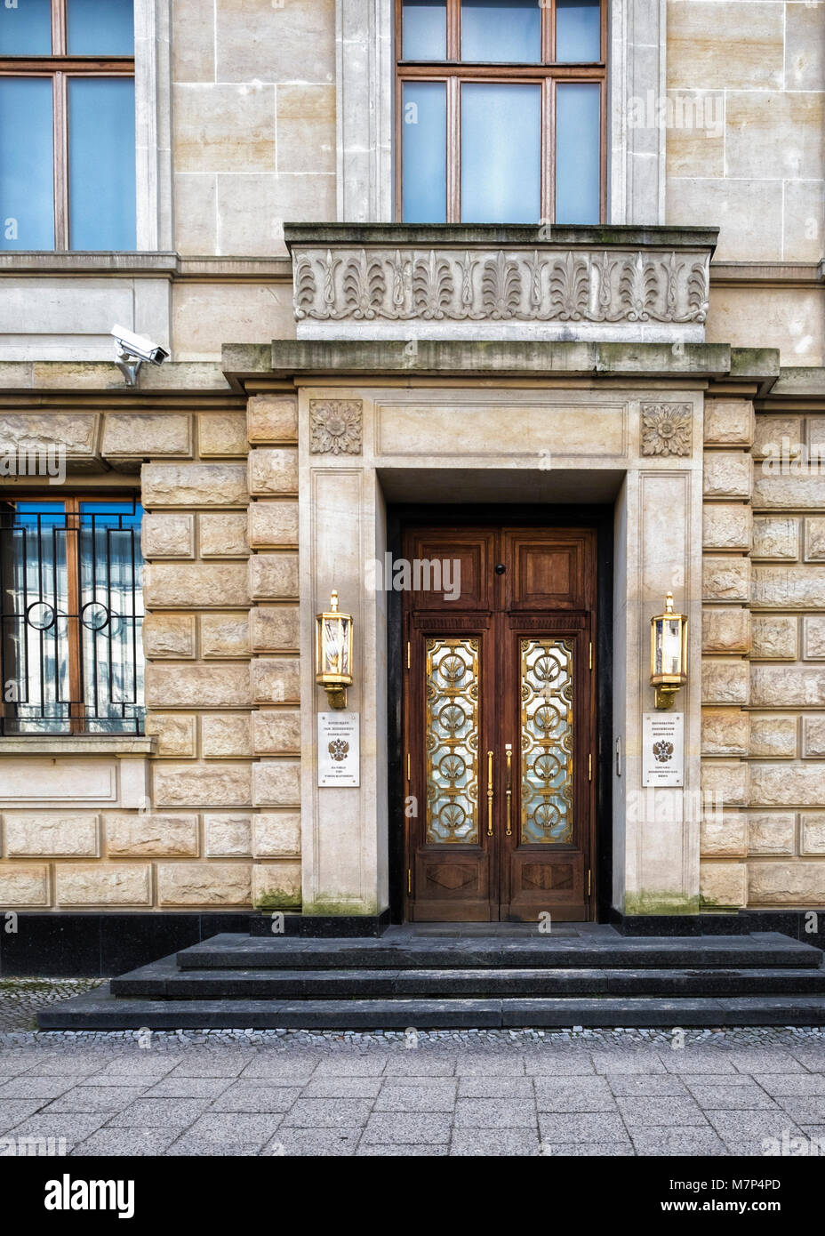 Berlin-Mitte,Unter den Linden, Embassy of the Russian Federation - Stock Image