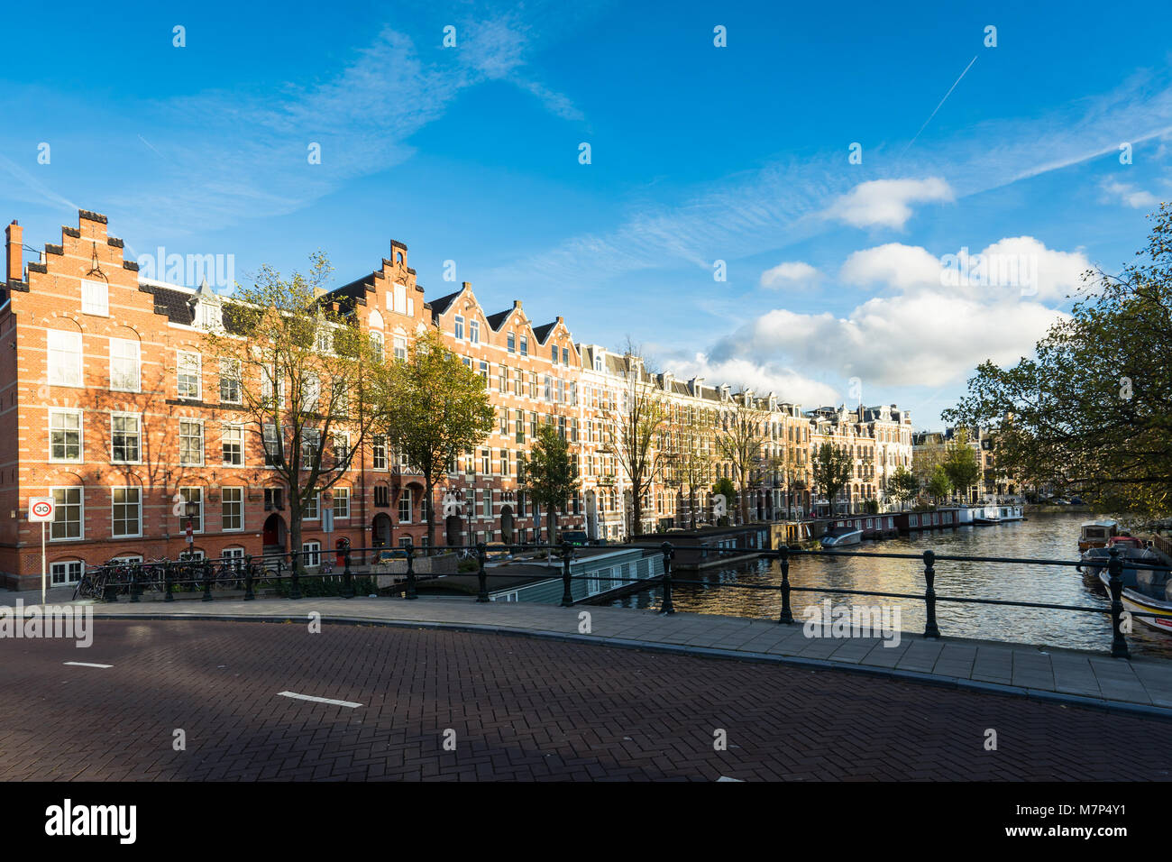 Stepped Gable Houses in Amsterdam - Stock Image